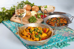 Indian dishes stock photos