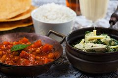 Indian dishes Stock Photography