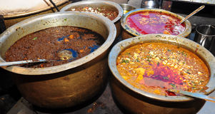 Indian dishes. At a Dhaba/Hotel Stock Image