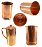 Indian dishware made of copper Stock Image