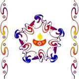 Indian diwali design. Indian rangoli design for diwali festival Royalty Free Stock Photography