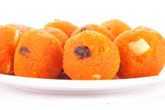 Indian diwali  sweets in a row Royalty Free Stock Photos