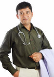 Indian Doctor. Posing to Camera stock photography