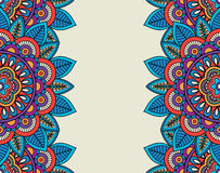 Indian doodle boho floral borders Stock Photo