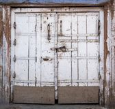 Indian door with chain and lock. An old vintage Indian door with chain and lock Stock Photo