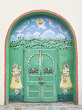 Indian door decorated, Udaipur Royalty Free Stock Images