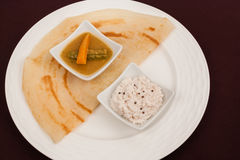 Indian Dosa with Chutney Sambar Royalty Free Stock Photography