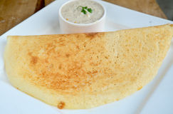 Indian Dosa. Dosa is special food made of rice and lentils in south india stock image