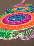 Indian Drawing. Indian Artistic colorful drawing on road Royalty Free Stock Image