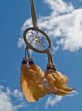Indian dream catcher. Blowing in the wind on a sunny day Royalty Free Stock Photography