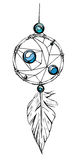Indian dream catcher. American indians. Ethnic sketch style illustration. Royalty Free Stock Photos