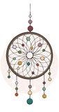 Indian dream catcher. American indians. Ethnic sketch style illustration Stock Photography