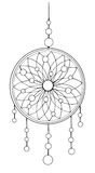 Indian dream catcher. American indians. Ethnic sketch style illustration Royalty Free Stock Photos