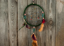 Indian dream - catcher on boards Stock Photos