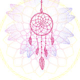 Indian Dream catcher,colorful digital ethnic element Royalty Free Stock Image