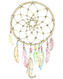 Indian Dream Catcher. Illustration of Indian Dream Catcher.Painting of watercolor Royalty Free Stock Images