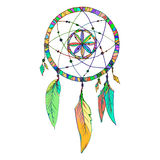 Indian Dream catcher in a sketch style. Vector illustration isolated on white background. Royalty Free Stock Photo