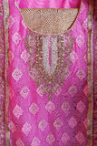 Indian designer dress details. Highly detailed pattern of an Indian dress Stock Photography