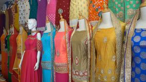 Indian Dresses for Sale stock footage