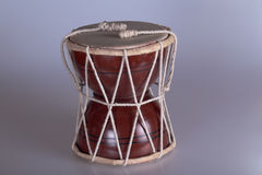 Indian drum. A small souvenir and traditional Indian drum Royalty Free Stock Photos