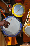 Indian drums. At a religious festival in Mysore Royalty Free Stock Photo