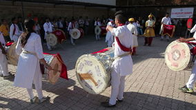 Indian Drums performance at festival stock video