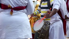 Indian Drums performance at festival stock video footage