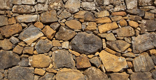 Indian dry stone wall background Stock Image
