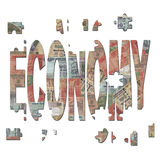 Indian economy jigsaw pieces Stock Photography
