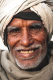 Indian elder smiling to the camera Stock Images