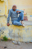 Indian elderly man Royalty Free Stock Images