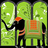Indian Elephant. Decorated indian elephant. Vector illustration Royalty Free Stock Photography
