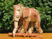 Indian Elephant. Made from wood Royalty Free Stock Photography