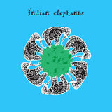 Indian elephant. And asian illustration Royalty Free Stock Images