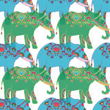 Indian elephant with beautiful pattern. Stock Image