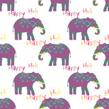 Indian elephant with beautiful pattern. Royalty Free Stock Image