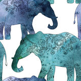 Indian elephant with beautiful pattern. Stock Photography