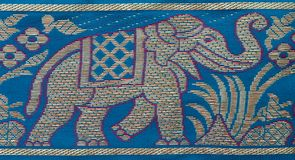 Indian elephant embroidery Royalty Free Stock Photo