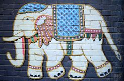 Indian Elephant Graffiti Royalty Free Stock Photos
