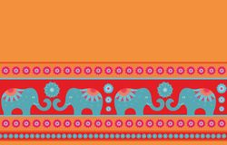 Indian elephant pattern Stock Image
