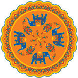 Indian Elephant Pattern Rosette Royalty Free Stock Photography