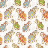 Indian elephant seamless pattern Stock Images