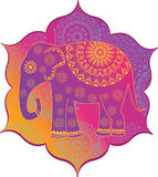 Indian elephant with texture Stock Photo