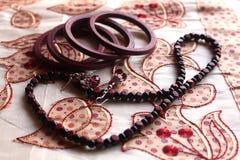 Indian Embroidery Work saree Royalty Free Stock Photos