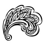 Indian ethnic decorative element. Ethnic folk ornament. Hand drawn paisley stock illustration