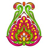 Indian ethnic decorative element. Ethnic folk ornament. Hand drawn lotus flower royalty free illustration