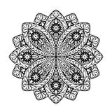 Indian ethnic mandala. Ornamental round lace pattern. Vector illustration Royalty Free Stock Images