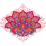 Indian ethnic ornament. Hand drawn decorative element Stock Images