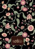 Indian ethnic pattern with stylized flowers.