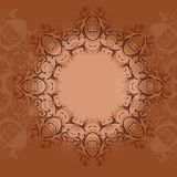 Indian ethnical oriental round henna lace. Ornament mandala style stock illustration